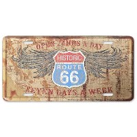 【RT.66 アルミニウム サイン RT.66 LICENSE PLATE 66-GL-S4L1101】ROUTE66 ルート66 看板 USA 直輸入