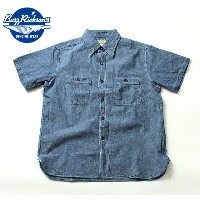 No.BR35856 BUZZ RICKSONS バズリクソンズBLUE CHAMBRAYS/S WORK SHIRT