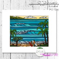 HEATHER BROWN Hawaiian Holiday HB9041P ヘザーブラウン アートプリント Mサイズ 絵画 ハワイ サーフ サーフィン ハワイアン 絵 風景画■CRNG ds-Y