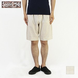 SUGAR CANE シュガーケーン ショーツSUGAR CANE Light COTTON 78/ LINEN 22 STRIPE EASY SHORT PANTSSC51525【楽ギフ_包装】...