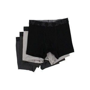 ジョッキー メンズ ブリーフパンツ アンダーウェア Active Blend Boxer Brief 4-Pack Black/Trusted Pewter/Charcoal heather...
