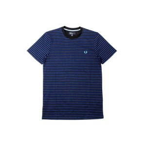 FRED PERRY DOUBLE STRIPE T-SHIRTS (M8366: ROYAL)フレットペリー/ボーダーTシャツ/青
