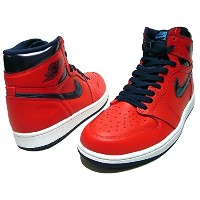 NIKE AIR JORDAN 1 RETRO HIGH OG LIGHT CRIMSON 「DAVID LETTERMAN」 2016 赤 9(27cm) ナイキ エア ジョーダン 1 レトロ ハイ 品番 555088...