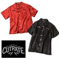 CUT RATE カットレイト S/S EMBROIDERY SHIRT 半袖シャツ 送料無料