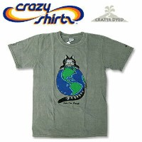 Crazy Shirts(クレイジーシャツ) S/S Tee @CRATER DYED[2006956] EAETH CATクリバンキャット 半袖 Tシャツ HAWAII ハワイ ネコ 火山灰...