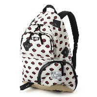 <Kansai Yamamoto> FABRICK backpack1(4016ーSー909) White バッグ~~リュックサック・デイパック