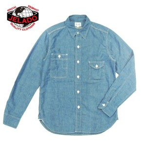 """JELADO/ジェラード""""CHAMBRAY WORK SHIRTS""""/Lot.94102 ■Made in JAPAN■"""