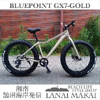 "【DAINICHI】""BLUEPOINT-GX7-Gold""湘南鵠沼海岸発信""ファットバイク 26インチ《DAINICH BLUEPOINT-GX7-Gold》COLOR:ゴール..."