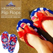 Disney US ミニーマウス ビーチ サンダル プール 海 女の子 minnie mouse official beach sandals flip flops pool