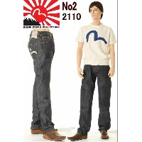 EVISU JEANS No2 2110ID ダブルニー カモメマーク エヴィス ジーンズ DOUBLE KNEE レギュラー フィット MADE IN JAPAN 日本製【28〜36inch...