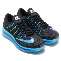 NIKE WMNS AIR MAX 2016(ナイキ ウィメンズ エア マックス 2016)BLACK/MULTI-COLOR-DEEP ROYAL BLUE-BLUE GREY-GAMMA BLUE【レディース ...