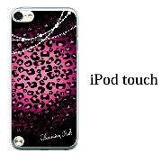 iPod touch 5 6 ケース iPodtouch ケース アイポッドタッチ6 第6世代 チャームピンク ヒョウ柄 レース for iPod touch 5 6 対応 ケース カバー かわいい...