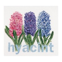 Thea Gouverneur クロスステッチ刺繍キットNo.434 「Hyacinth」(ヒヤシンス 花) オランダ テア・グーヴェルヌール 【取り寄せ/納期40〜80日程度】