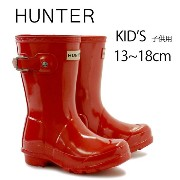 ハンター キッズ レインブーツ HUNTER ORIGINAL KIDS GLOSS KFT5000RGL PILLAR BOX RED
