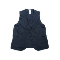 【期間限定30%OFF!】POST OVERALLS(ポストオーバーオールズ)/#1512 ROYAL TRAVELER COTTON BROADCLOTH VEST/navy