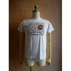 ★BUZZ RICKSON'Sバズリクソン★『MOSQUITOES』S/S T-SHIRT BR77039半袖Tシャツ101WH