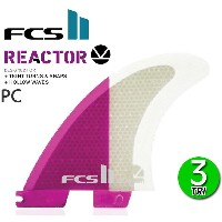 FCS2 フィン リアクター REACTOR PC TRI FIN M/ エフシーエス2 トライフィン ショートボード サーフボード サーフィン ピンク