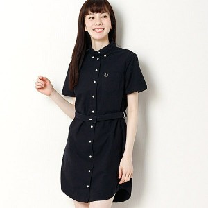 【16SS】OXFORD SHIRT DRESS/フレッドペリー(レディス)(FRED PERRY)