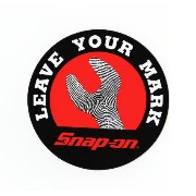 [cpa][c:0][b:3][s:0.06]ステッカー(デカール) スナップオン snap-on snapon Leave your mark (車 バイク アメリカン 車用品 バイク用品 カー用品 外装パーツ)