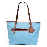 COACH コーチ アウトレット OUTLET ソーヤ キャンバス レザー Sawyer Canvas Leather Tote トートバッグ ブルー A4サイズ 収納可 F37237-IMEP4