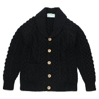 INVERALLAN(インバーアラン)6A Shawl Collar Cardigan Black