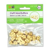 Multicraft ウッドクラフトボタン [バタフライ] 2サイズ 計25個 / Multicraft Krafty Kids Wood Craft Button Butterflies 25pc