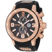 インビクタ 時計 インヴィクタ 腕時計 Jason Taylor for Invicta Collection 13689 18k Rose Gold Ion-Plated Stainless Steel and Black Mother...