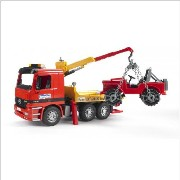 ブルーダー レッカー車 クレーン Bruder Action Vehicle Tow Truck carrying Jeep with Crane and Accessories