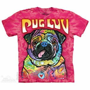 The Mountain Tシャツ Dean Russo Pug Luv (Dean Russo イヌ パグ メンズ 男性用 男女兼用) S-L【輸入品】半袖