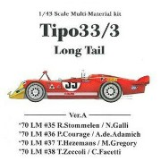Tipo33/3 Long Tail Ver.A 【1/43 K-474 Multi-material kit】