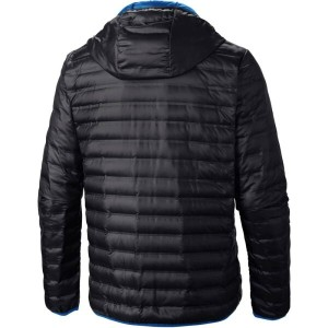 コロンビア Columbia メンズ アウター コート【Flash Forward Hooded Down Jacket】Black/Hyper Blue