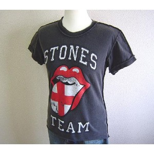 【From UK】AMPLIFIED★アンプリフィード★The Rolling Stones Flag Tongue Teeローリング ストーンズ 英国紋章プリント Tシャツ Charcoal
