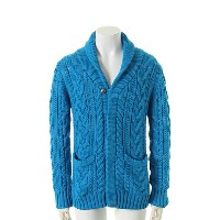 9200 by attack the mind 7 キュウセンニヒャク by アタックザマインドセブン Cable shawl cardigan{-AFS}{FNL50}