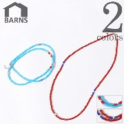 BARNS OUTFITTERS バーンズ アウトフィッターズ WHITE HEARTS BEADS NECKLACE ホワイトハーツ ビーズ ネックレス メンズ 通...