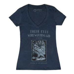 【Out of Print】 Zora Neale Hurston / Their Eyes Were Watching God V-Neck Tee (Midnight Navy) (Womens)