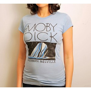 【Out of Print】 Herman Melville / Moby-Dick Tee (Dusty Blue) (Womens)