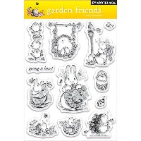 "Penny Black Clear Stamps Garden Friends/クリアスタンプガーデンフレンド(5""x7.5"")"