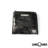 【LONE ONES】ロンワンズ【送料無料】【あす楽】/MF Wallet: Compact Wallet (Silver Plate)/Mat Crocodile コンパクトウォレット...