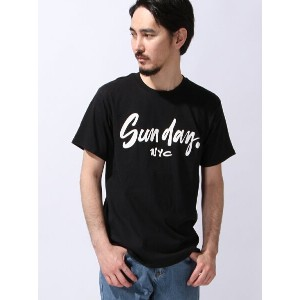 【SALE/50%OFF】ANAP MEN SUN DAY nyc LOGO T アナップ カットソー【RBA_S】【RBA_E】
