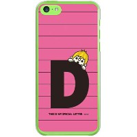 【送料無料】 letter&boy ピンク D (クリア) design by PansonWorks / for iPhone 5c/SoftBank 【SECOND SKIN】iPhone5cカバ...