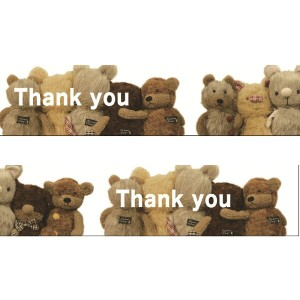 thank you bear マスキングテープ ラッピング ギフト デコレーション かわいい