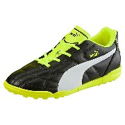 プーマ クラシコ TT JR ユニセックス Puma Black-Puma White-safety yellow