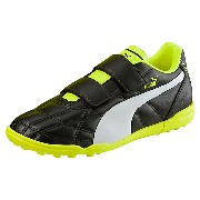 プーマ クラシコ TT V Jr ユニセックス Puma Black-Puma White-safety yellow