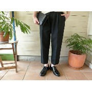 evam eva(エヴァムエヴァ) raising linen tuck Pants(E163T013)