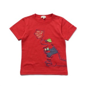 【3can4on(Kids) (サンカンシオン)】オシャレ恐竜くんTシャツキッズ トップス|カットソー・Tシャツ ブルー