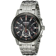 大特価!!あす楽! セイコー Seiko Men's SSC389 Solar Chrono Analog Display Japanese Quartz Silver Watch メンズ腕時計...