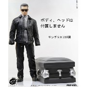 【POPtoys】F21 Leather coat suits with Coffin 1/6スケール 男性用ライダースコスチューム&棺桶