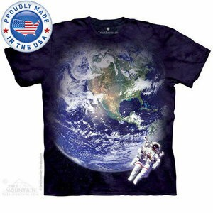 The Mountain Tシャツ The Smithsonian Astro Earth (The Smithsonian 宇宙 宇宙飛行士 メンズ 男性用 男女兼用 ) XL-4L 【輸入品】...