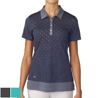 Adidas Ladies Advance Diamond Print SS Polo【ゴルフ レディース>トップス】