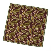 TIEYOURTIE【タイユアタイ】chief T82007 silk BORDEAUX(チーフ シルク ペイズリー ボルドー)